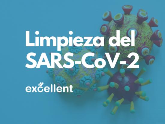 Limpieza del SARS-CoV-2